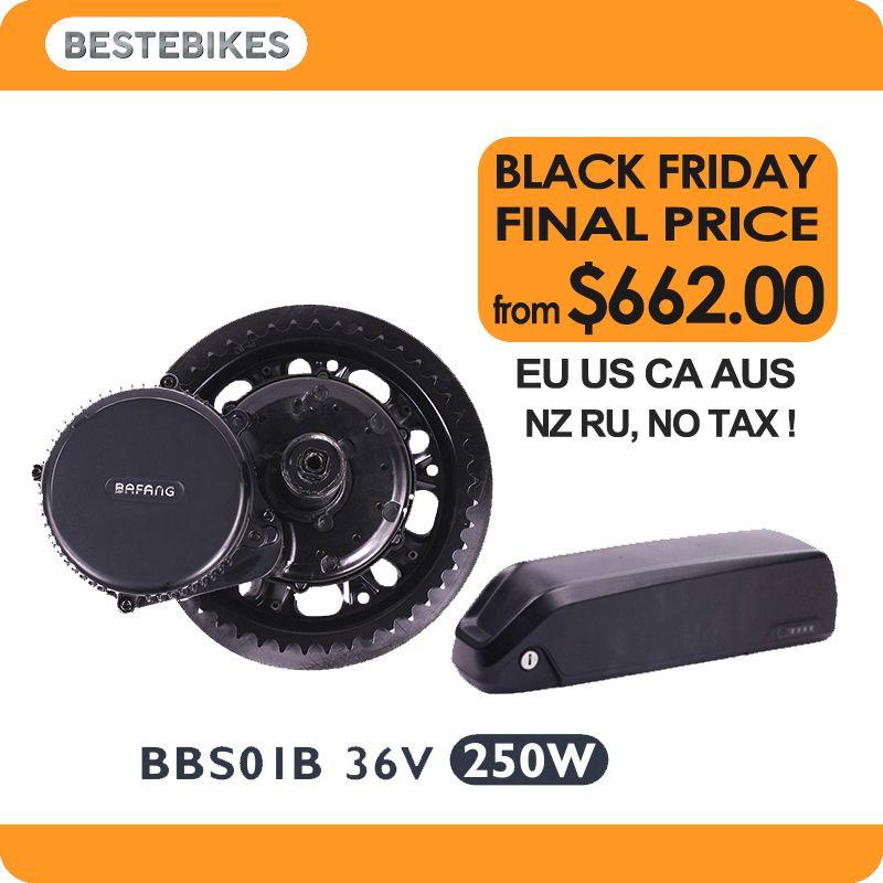 Bafang motor BBS01B 36V 250w moteur electrique velo electrique batterie ebike kit 522WH/36v14.5ah Samsung 29E EU US NO TAX