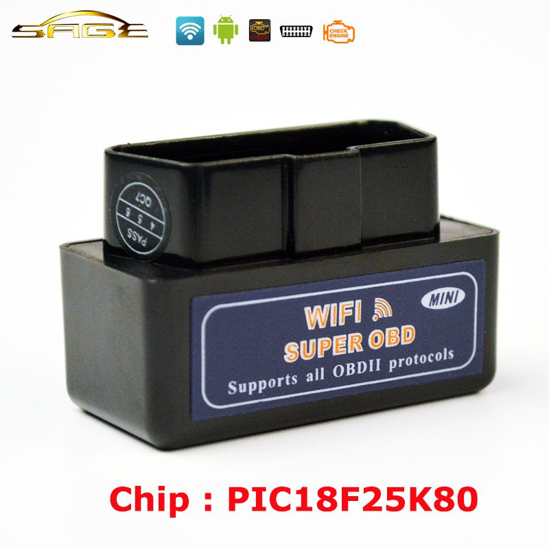 Viecar V1.5  Black / Blue / White MINI ELM327 WIFI OBD2 / OBDII ELM 327 for Android IOS Auto Scanner
