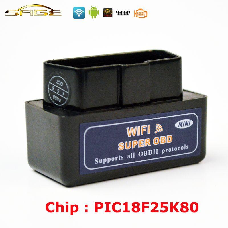 Viecar V1.5 Black / Blue / White MINI ELM327 WIFI OBD2 / OBDII ELM 327 for Android IOS Auto Scanner