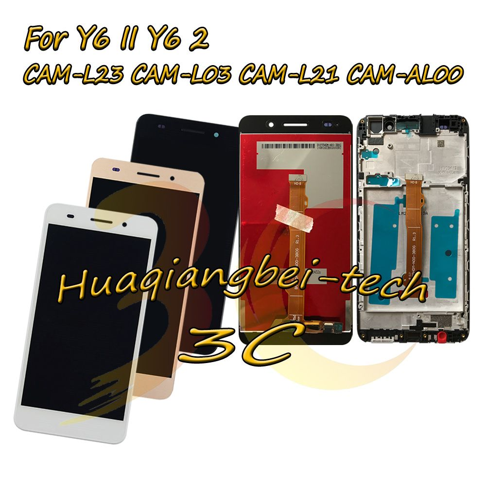 5.5'' For Huawei Y6II Y6 II CAM-L23 CAM-L03 CAM-L21 CAM-AL00 Full LCD DIsplay + Touch Screen Digitizer Assembly + Frame Cover