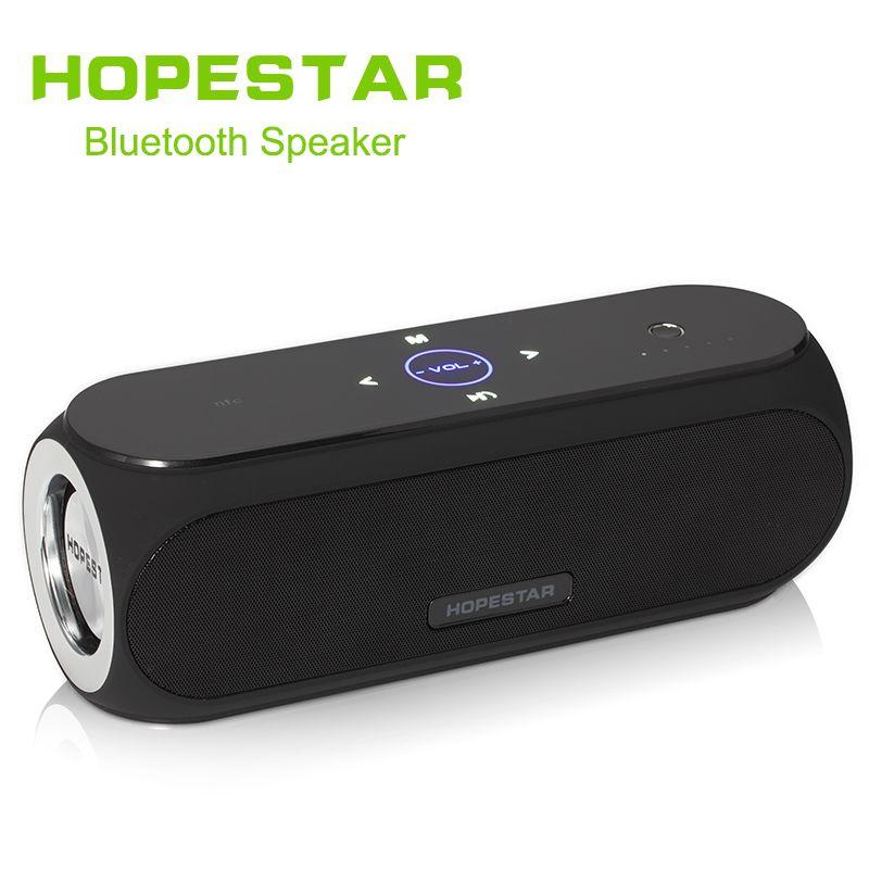 HOPESTAR H19 Beweglicher Drahtloser Bluetooth Lautsprecher wasserdichte Lautsprecher Außen Bass Wirkung Energienbank Subwoofer TV sound bar
