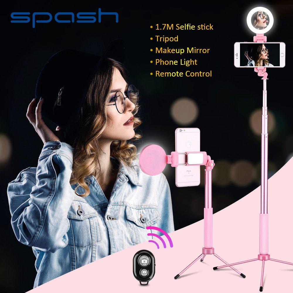 Spash 170 cm Selfie Stick Rotierenden Multifunktions Stativ Füllen Licht Bluetooth Fernbedienung Selfiestick für Smartphone iPhone