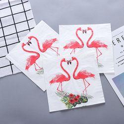 Новые белые красивые цветы бумага с Фламинго салфетки кафе вечерние салфетки украшение в технике декупажа бумага 33 см * 33 см 20 шт./упак./лот