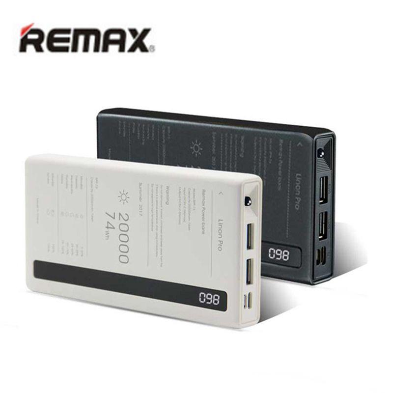 Remax Schnellladung Power-Bank 20000 mah Backup Externe Batterien Dual USB Typ C Mit LED Poverbank 20000 Mobile Handy-ladegerät