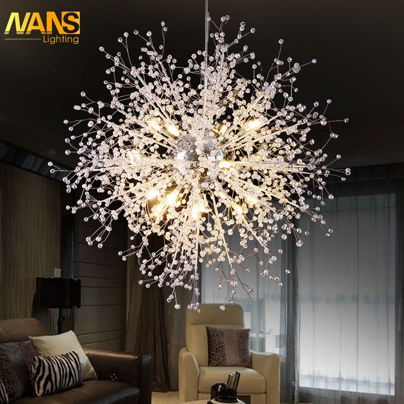 Modern nordic novelty LED Crystal chandeliers and pendants for dining /bedroom/party lighting led House decoration luminaire