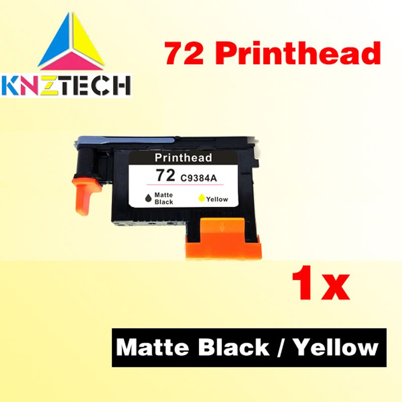 1x Matte Black/Yellow printhead for 72 C9384A compatible for hp72 print head T790 T1100 T1120 T1200/ T1300