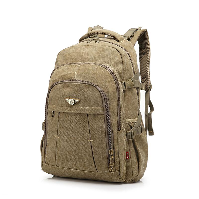 Men Backpack Fashion Canvas Vintage Backpack Leisure Shoulder Travel Male School Bags Laptop Computers Unisex <font><b>Rucksacks</b></font> Bagpack
