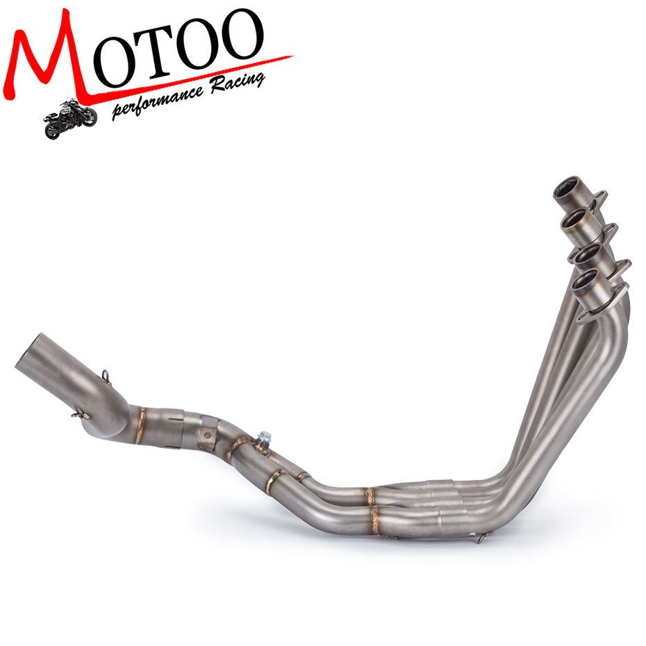 Motoo- Motorcycle full Exhaust systems Pipe for Honda CB650F CBR650F CBR650 2014-2018 Front Row Side Tntact Stainless Steel