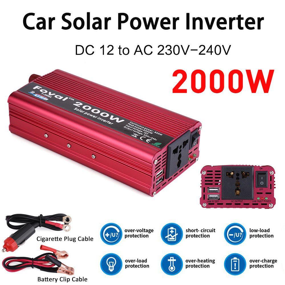 Foval dc 12v to ac 220v Inverter 12v 220v 2000W inverter modified sine wave 50hz/60hz