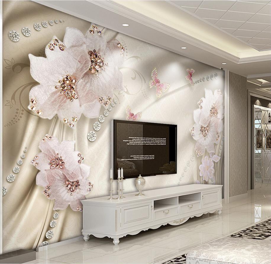 Пользовательские 3d обои Роскошные цветы 3d фото обои гостиная ванная настенная живопись нетканый обои современный