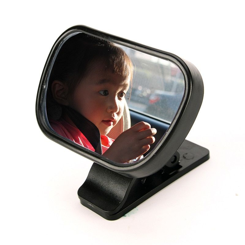 Car Baby Rear View Mirror Auxiliary Mirror Observe Children Vehicle Endoscope Car Adjustable Baby Mirror Size 8.8*5.6*2.2 CM