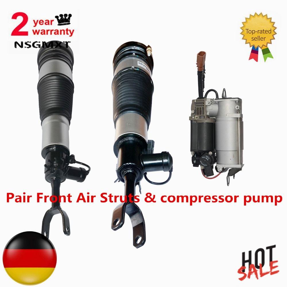 AP01 Paar Vordere Luftfederbeine & kompressor pumpe Für Audi A6 S6 quattro Avant Allroad C6/4F 4F0616005 4F0616039AA