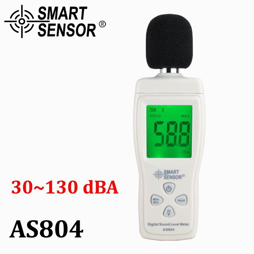 Digital sound level meter Measure 30-130dB <font><b>Noise</b></font> dB Decibel meter Monitoring Testers Metro Diagnostic-tool Smart Sensor AS804