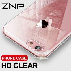 ZNP Ultra Mince Souple Transparent TPU Cas Pour iPhone 8 7 Plus Silicone transparent Pleine Couverture Pour l'iphone 7 Plus 8 Téléphone Cas Capa Coque