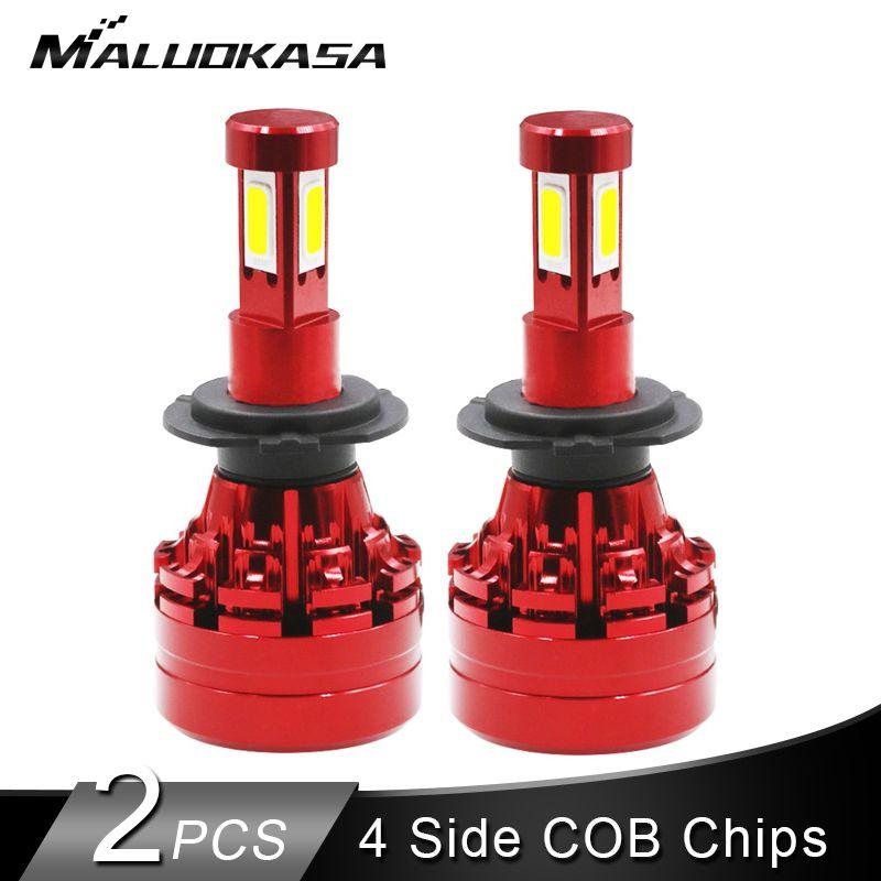 2PCS LED H7 H4 LED Headlight Bulb 16000LM/Set 40W 4 Side COB  Hi-lo LED H1 H11 H9 H13 HB3 HB4 Auto Fog Light 12v 24v Car Styling