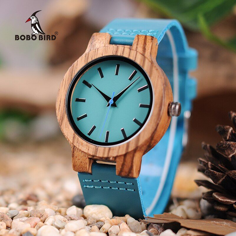 BOBO BIRD LC28 Wood Wristwatches Fashion Antique Erkek Watch with Leather Band Casual Quartz Watch for Unisex in Paper Gift Box