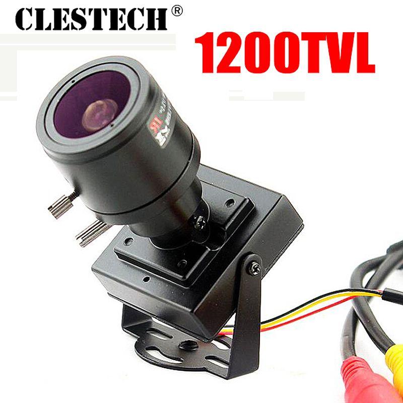 Nouveau produit Mini mise au point manuelle 2.8 m-12mm 1200TVL objectif réglable couleur vidéo HD CCTV Surveillance de sécurité Zoom caméra métal