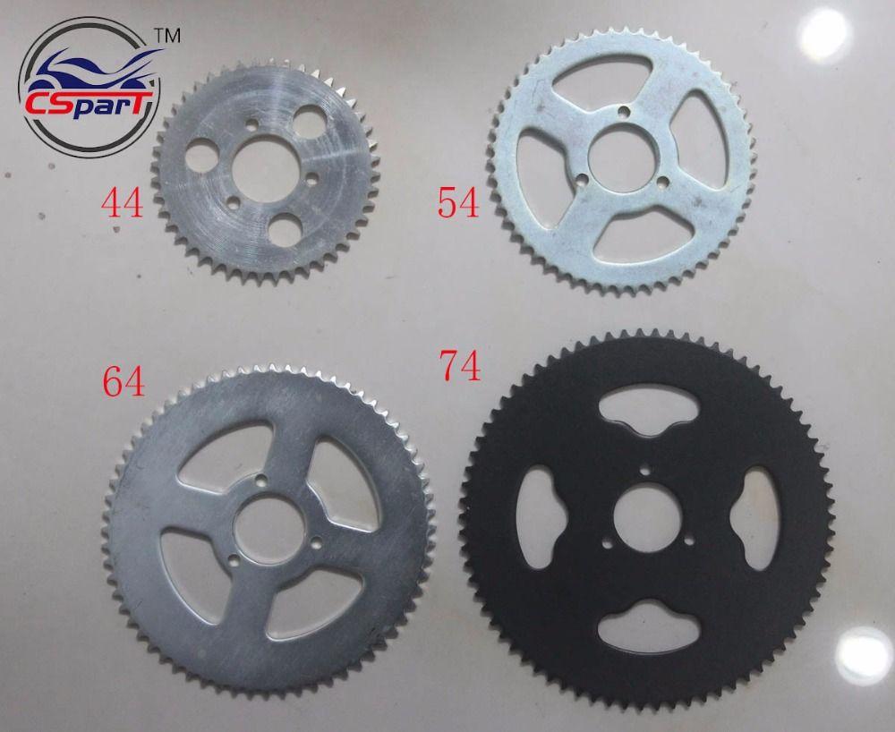 44 54 64 74 Tooth 44T 54T 64T 74T T8F 35MM Rear Sprocket  Mini Moto ATV Quad Dirt Pit Pocket Bike Cross 47cc 49cc Parts