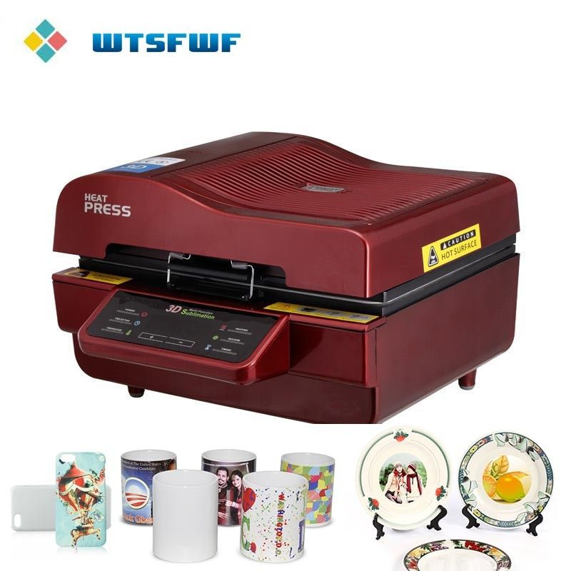 Wtsfwf Cheap ST-3042 3D Sublimation Heat Press Printer 3D Vacuum Heat Press Machine for Cases Mugs Plates Glasses