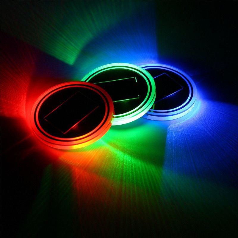 Universelle Autobecherhalter solarbetriebene Untere Auflage LED Solar Licht Abdeckung Trim Atmosphäre Lampe