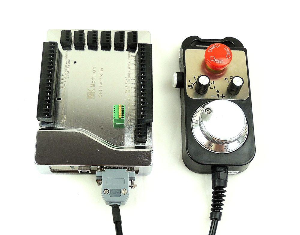 Hohe qualität mach3 USB CNC 4/6 Achse Stepper Motor controller karte Glatte Bewegung USB Breakout board 24 v + CNC 6 achse MPG handrad