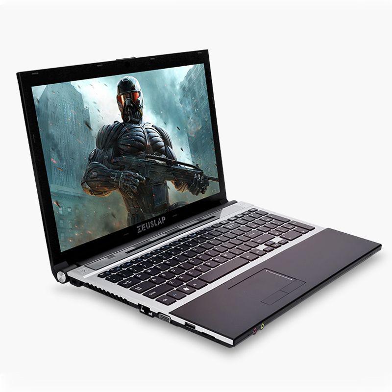 15.6inch Intel Core i7 CPU 8GB RAM+240GB SSD+1TB HDD Built-in WIFI Bluetooth DVD-ROM Windows 7/10 Laptop Notebook Computer