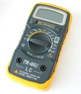 Capacitance meter testre Inductance meter Strap Blue Backlight LCR meter Electronic Measuring Instruments DM-6243L