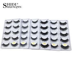 5 pairs 3D mink lashes false eyelashes natural makeup eyelash extension long cross volume soft fake eye lashes winged faux cils