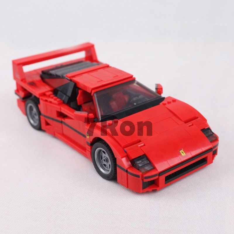 001 21004 Ferrarie F40 Sports Car Model Building Blocks Kits Bricks Toys hobbies Compatible with lego 10248