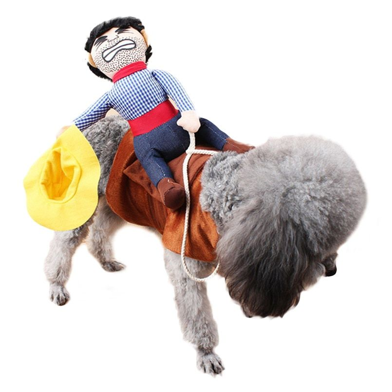Dogs Cats Costume Pet Suit Cowboy Rider Style Clothes Funny Clothes Can be Change For Puppy Dogs Cats Chihuahua Pet Products