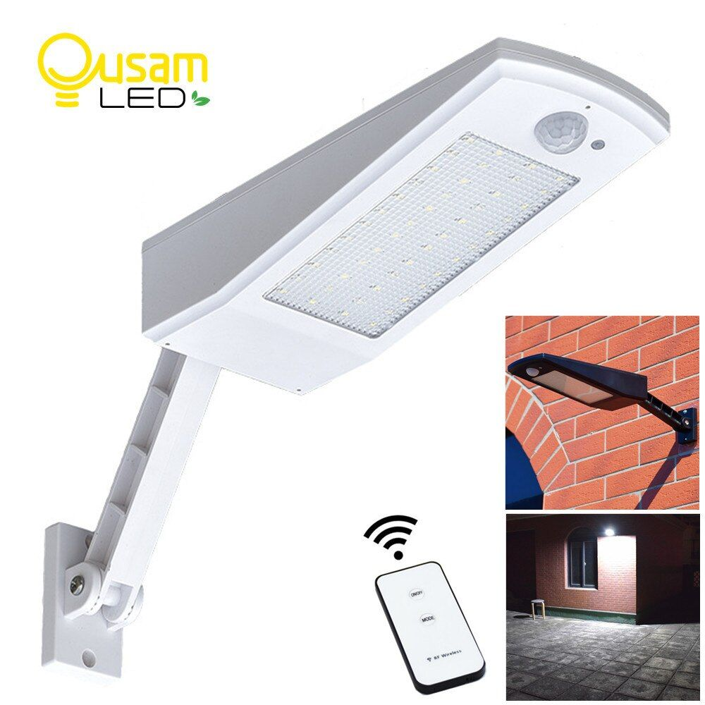 Upgraded Solar Light PIR Motion Sensor 48 LED Adjustable Solar Powered Lamp 900LM Bulb Auto For Waterproof Garden Wall Lighting
