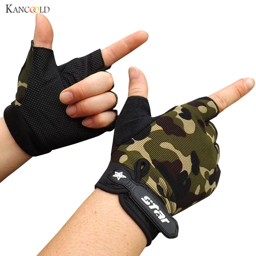 New Gym Gloves Screen Breathable Wearable Protective Fingerless Gloves Guantes Moto Luvas Alpine Motocross Stars Gants no16