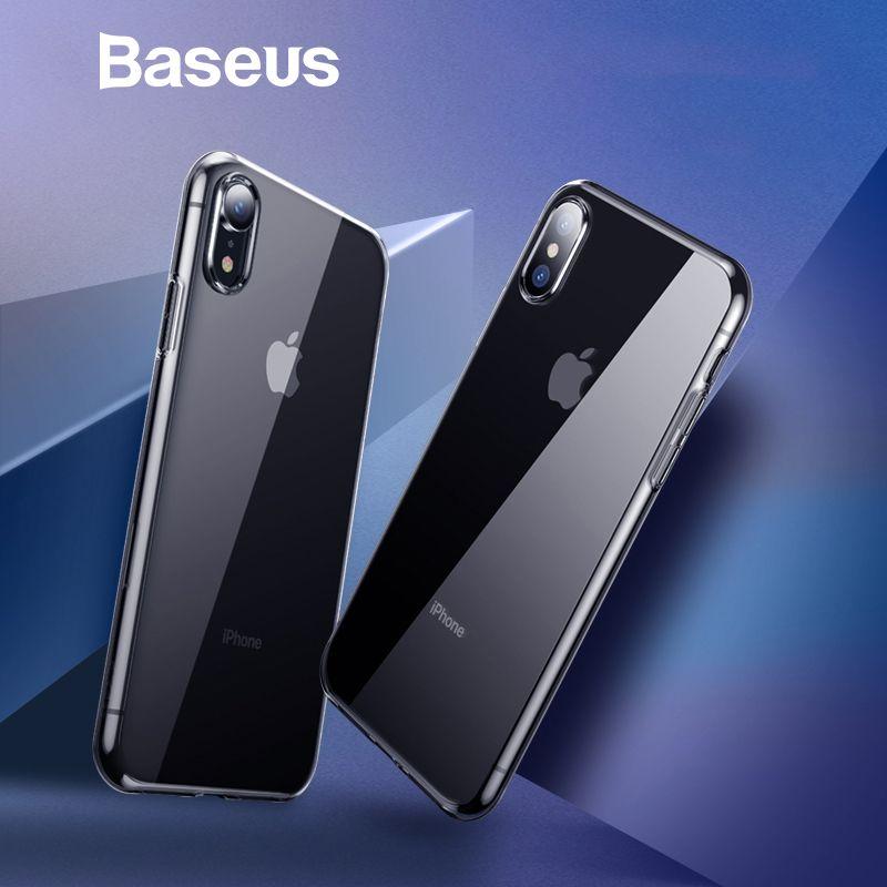 Baseus Ultra Dünne Transparente Fall Für iPhone Xs Xs Max XR 2018 Luxus Weichen Silikon Zurück Abdeckung Für iPhone Xs xs Max Fall