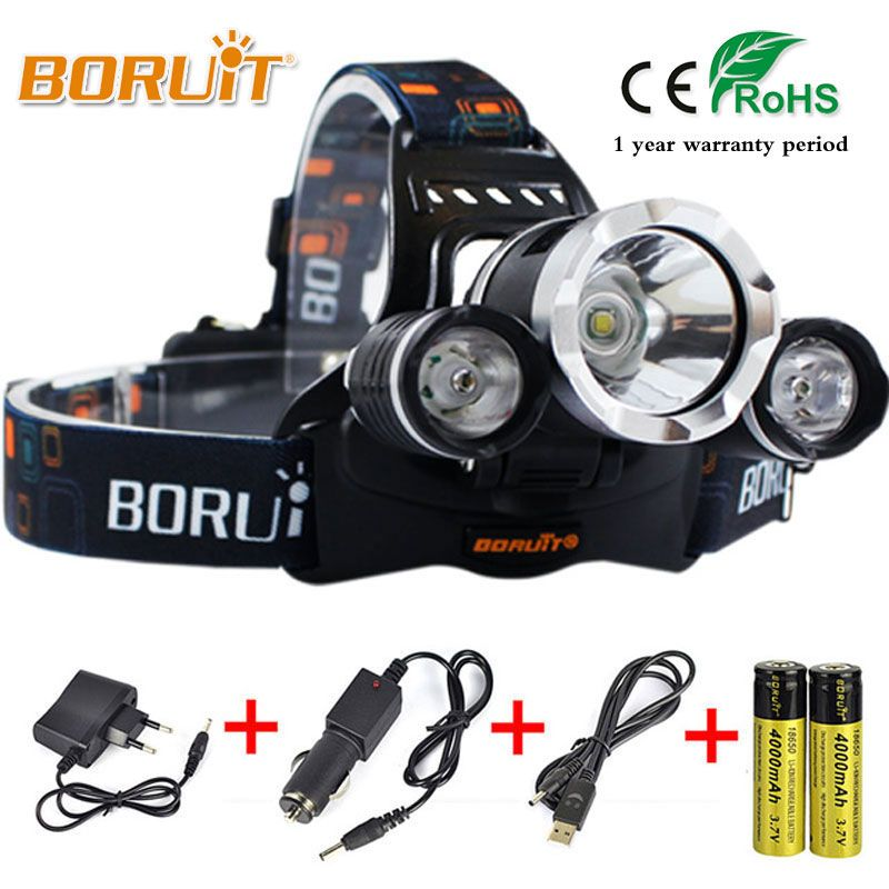 BORUIT 8000LM L2 LED Headlight Multi Mode Upgraded glitter Headlamp For Outdoor camping Hunting fishing Top Head light RJ-5000