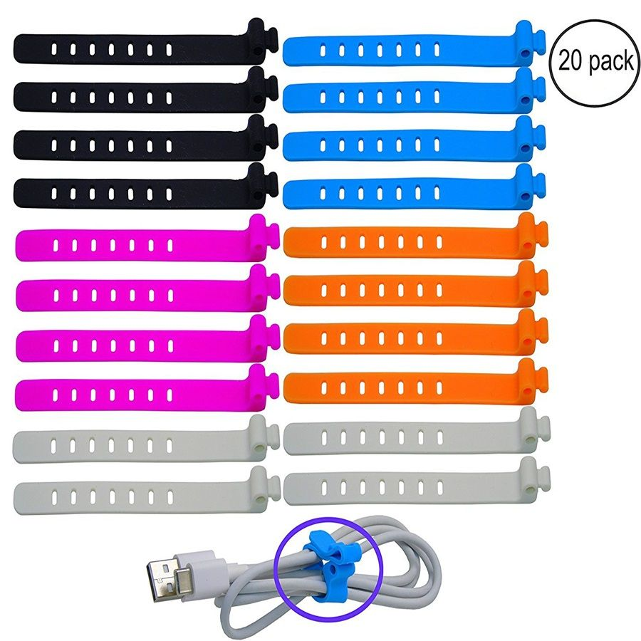 100% Еда Класс мешок силикона Галстуки кабель Управление многоразовые zip галстук твист многофункциональный мешок клип Еда Saver