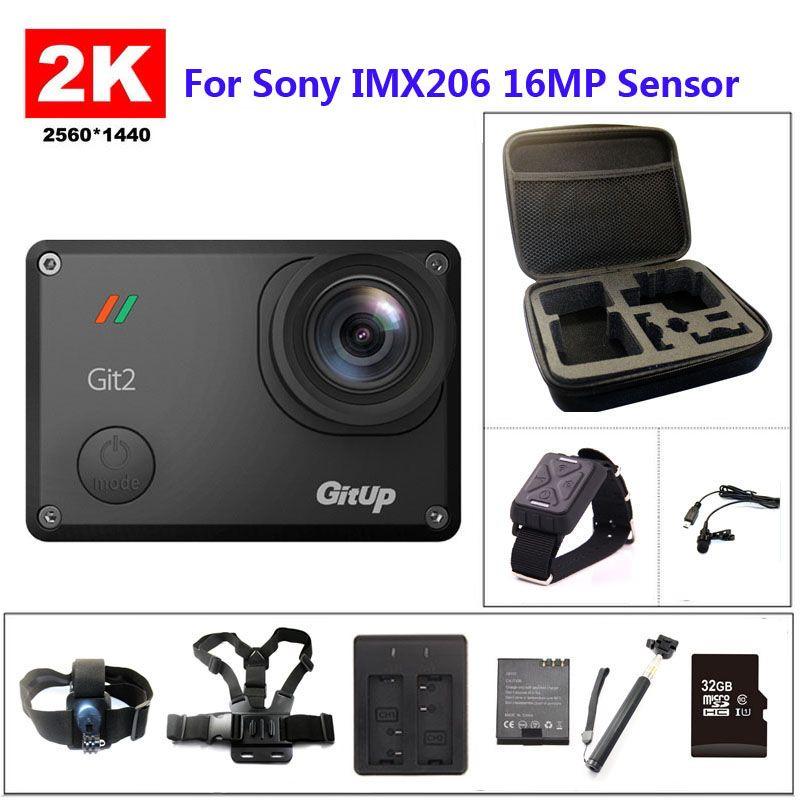 Gitup git2 Wi-Fi 2 К Спорт DV Pro Full HD 1080 P 30 м Водонепроницаемый мини видеокамера 1.5 дюймов Новатэк 96660 действие Камера