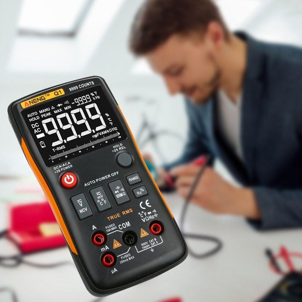 ANENG Q1 Digital Multimeter Multimetro Transistor Mastech Multimetre Clamp Meter uni Capacitor Tester t Analogico Auto Range