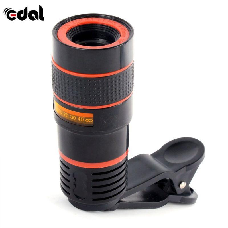 EDAL 8x Zoom Télescope Téléobjectif Camera Lens pour Samsung S9 Note 8 pour iphone 7 8 Plus Mobile Lentille de Téléphone