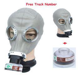 2 in 1 Cat Penyemprotan Militer soviet Rusia Chemcial gas masker Wajah Penuh Penutup Wajah Respirator Industri