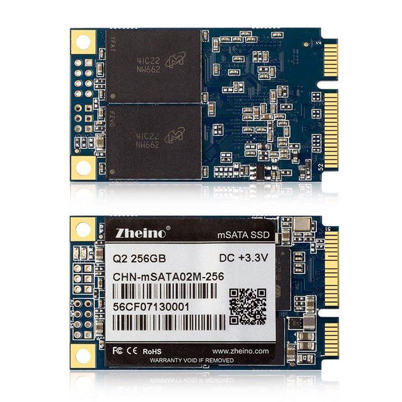 Zheino Q2 ssd mSATAIII 256 GB SSD Interne Solid State Drive MLC 256 Mt Cache SATA3 FESTPLATTE Für Tabelle PC Laptop Notebook