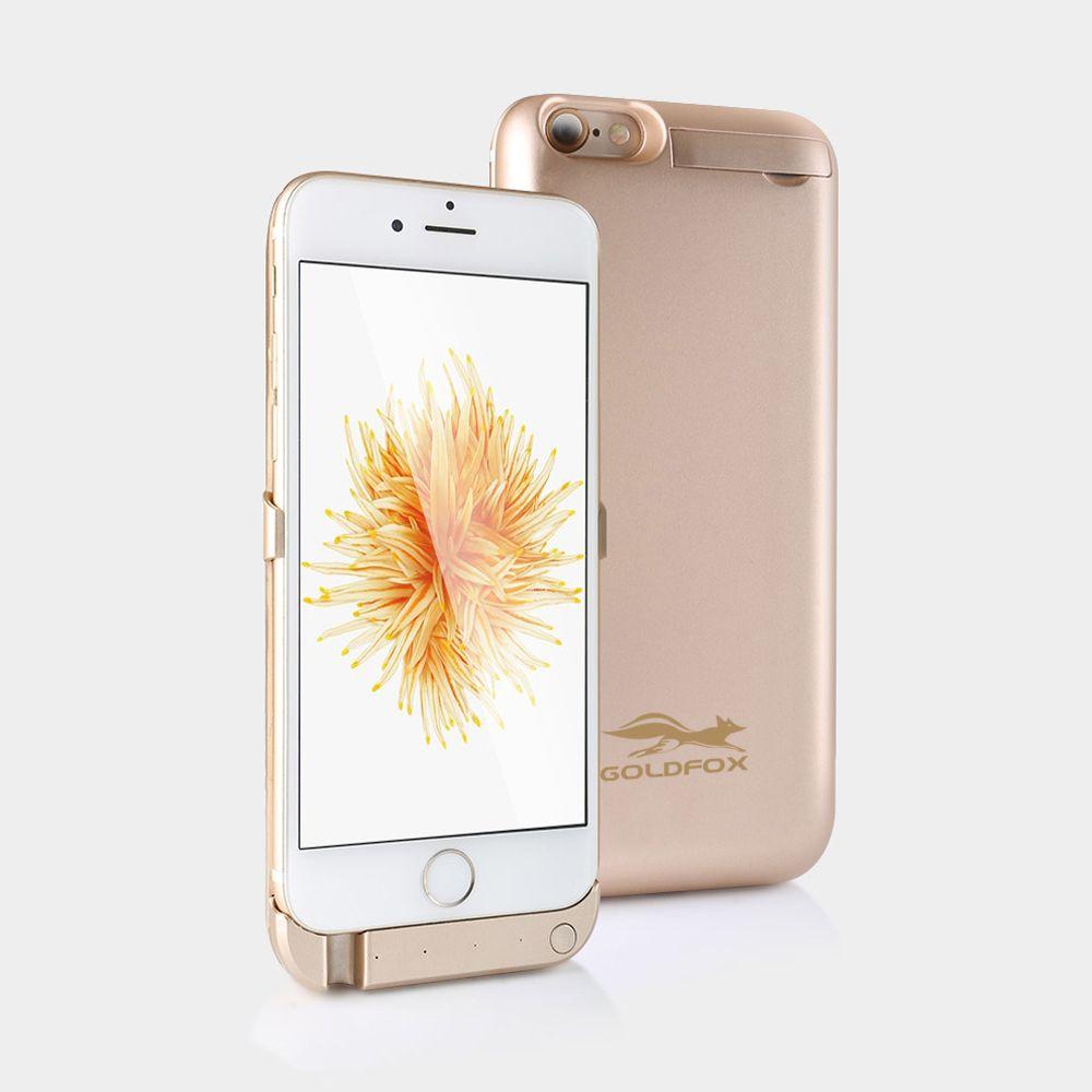 Pour iphone 6 6 s Cas de Chargeur de Batterie 5000 mAH Externe Cas De Batterie de Secours puissance Banque Pack Charge Couverture Arrière pour iphone 6 6 s 4.7