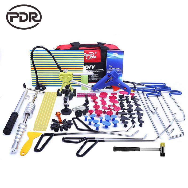 PDR outils crochets acier inoxydable poussoirs enlèvement de Dent carrosserie réparation de Dent marteau inverse sans peinture débosselage Kit pied-de-biche