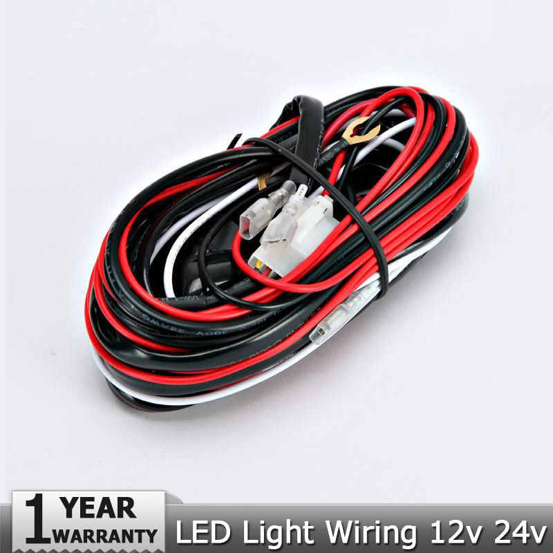 Car Auto Work Driving Fog light Wiring Loom Harness Offroad Led Light Bar Cable 40A 12v 24v Switch Relay Universal Hareness Kit