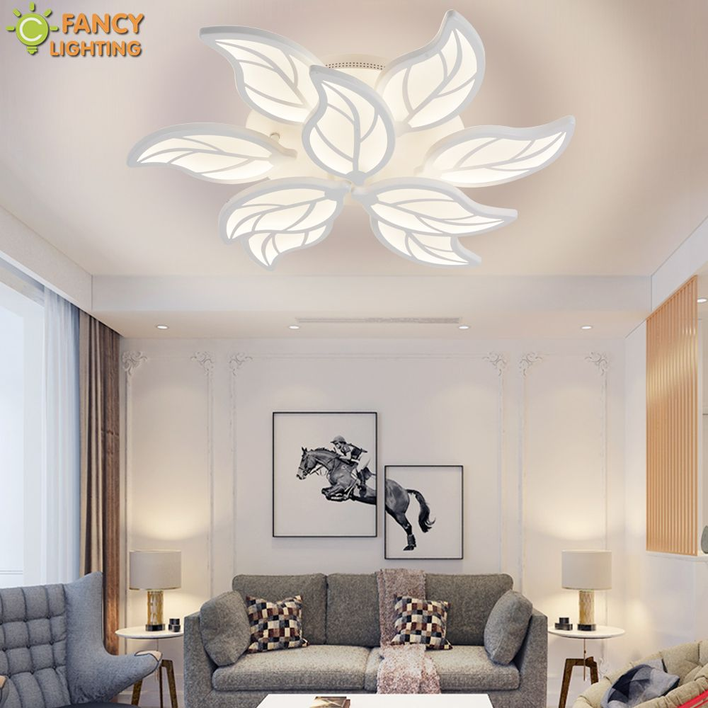 Nordic Led chandelier light Warm/Nature/Cool White Leaf Lampara de techo For Bedroom/Living Room/Home Decor Chandelier Ceiling