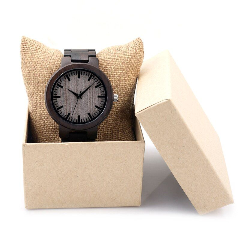 BOBO BIRD Men Watches Wood Strap Wristwatches Japan Movement 2035 Quartz Wood Watches idea Gifts for Men C-C30