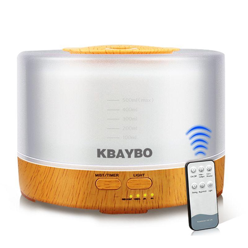 KBAYBO 500ML télécommande humidificateur d'air huile essentielle arôme diffuseur ultrasons brumisateur avec atomiseur LED couleur