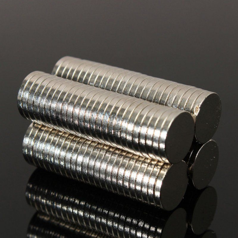 50pcs 8mm Dia x 1mm Small Thin Neodymium Disc Magnets N52 Craft Reborn Fridge Diy NdFeB Magnetic Materials