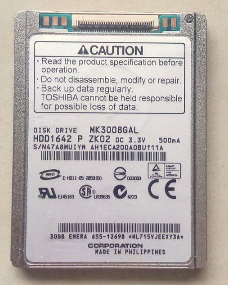 new MK3008GAL 1.8-inch micro hard drive interface ce ZIF 30G IPOD CLASSIC VIDEO ZUNE DV d420 430 2510p nc2400 applicable