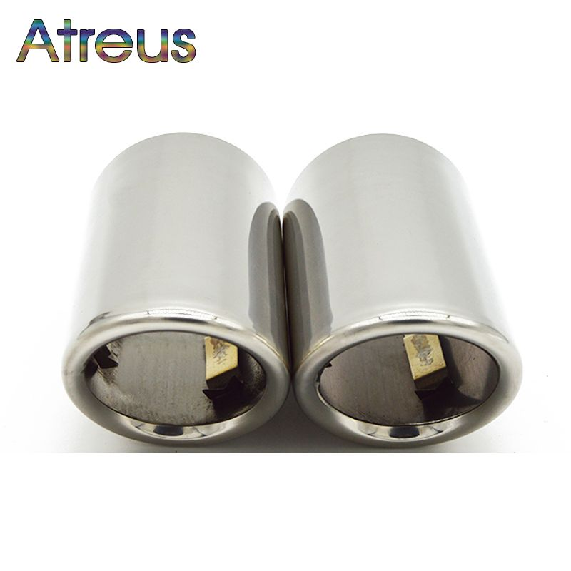Atreus Car Exhaust Muffler Tip Pipe Auto Accessories For Volkswagen VW Passat B7 CC Tiguan 2011 2012 2013 2014 2015 2016 2017
