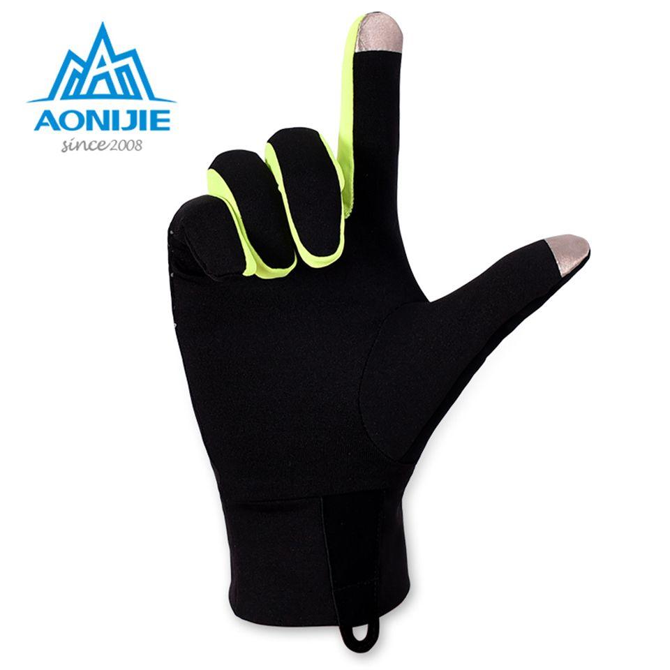 AONIJIE Sports de Plein Air Gants Hommes Femmes Chaud Coupe-Vent Cyclisme Randonnée Escalade Courir Ski Plein Doigt Gants D'écran